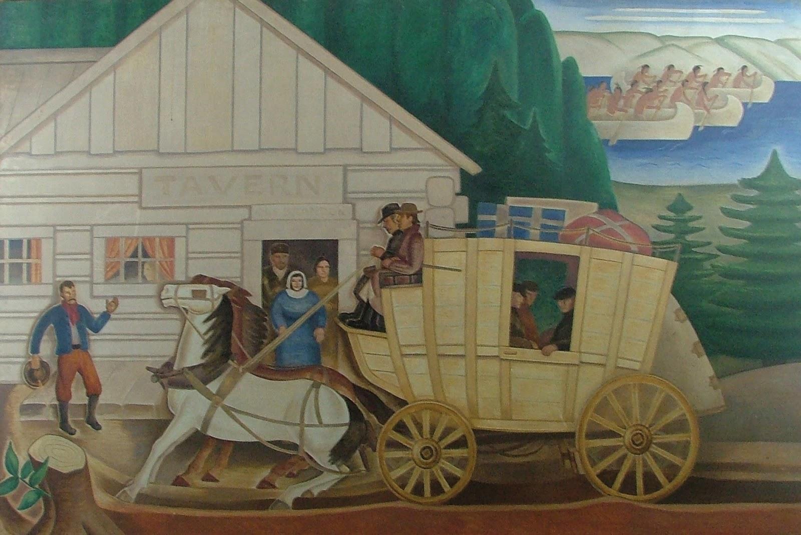 Brandon mn history center wpa mural painted by elsa jemne for Abercrombie mural