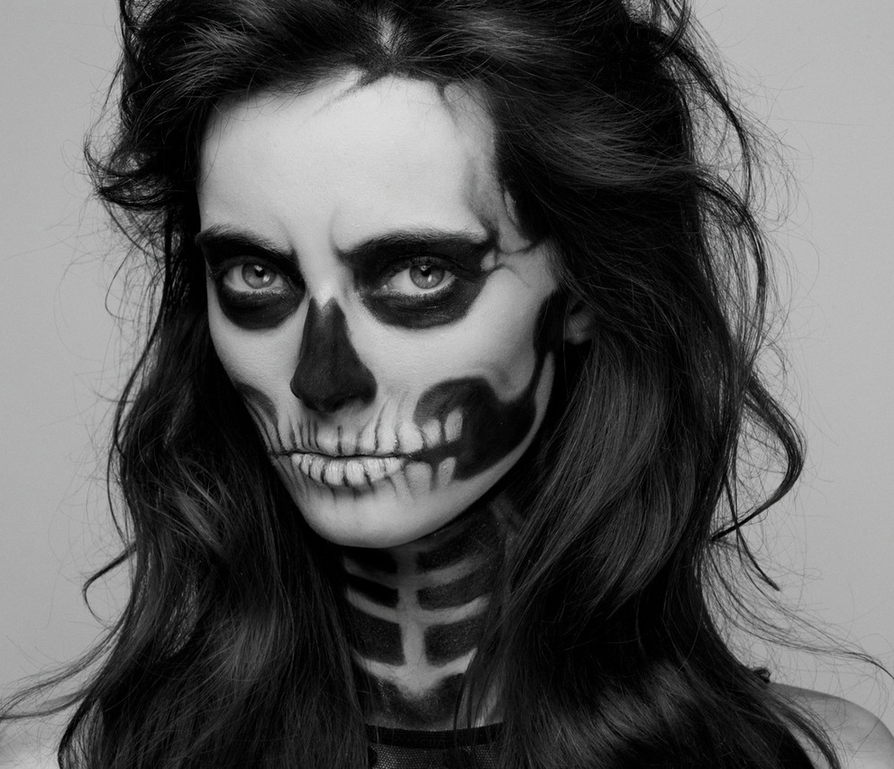 ReVamped Vintage: DIY Halloween Skeleton Costume - Skeleton Halloween Costume Makeup