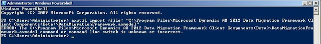 Import Error during Data Migration Framework  in Ax 2012