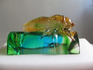 cicada feng shui crystal