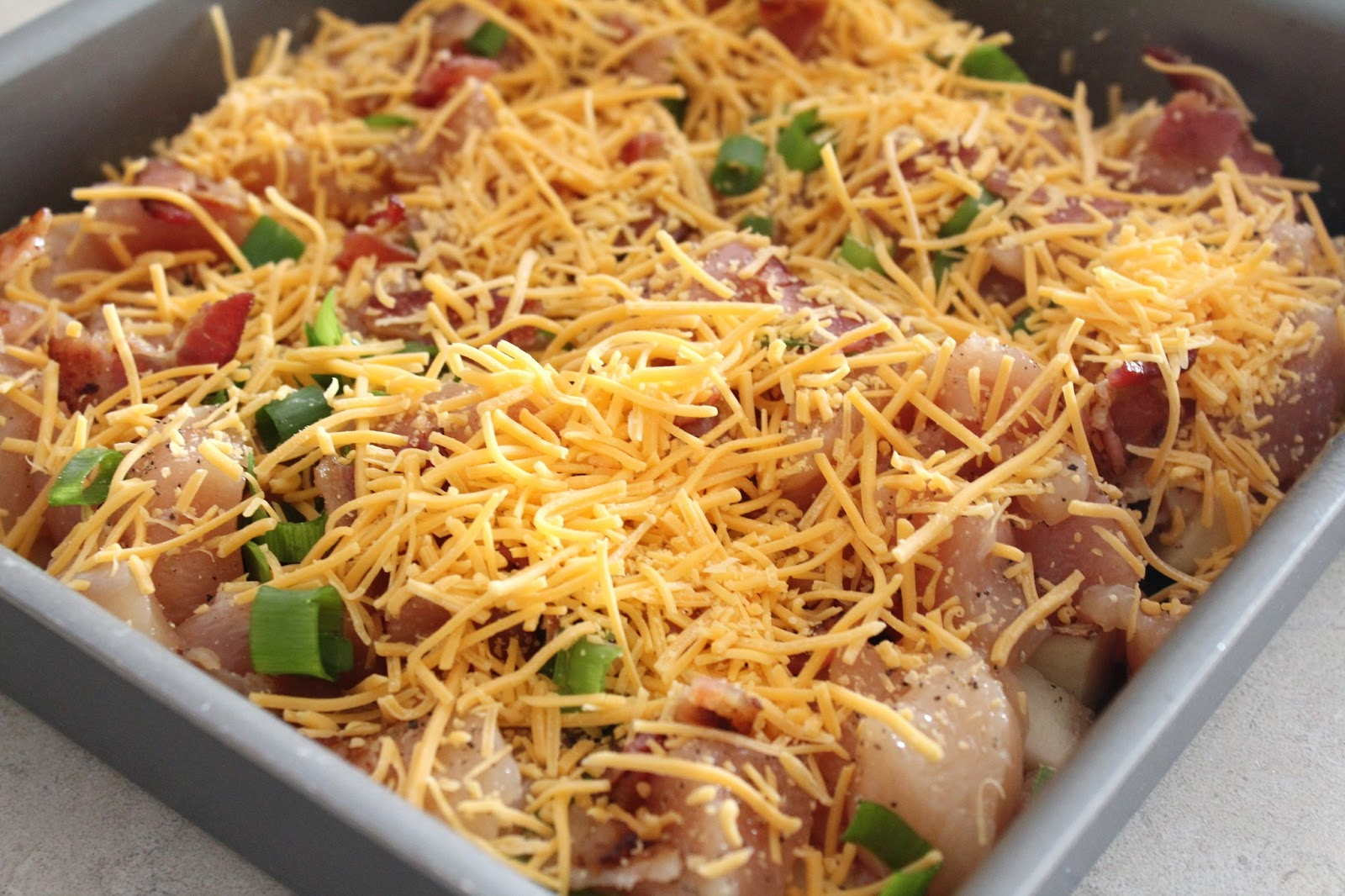 Delicious as it Looks: Loaded Baked Potato & Chicken Casserole