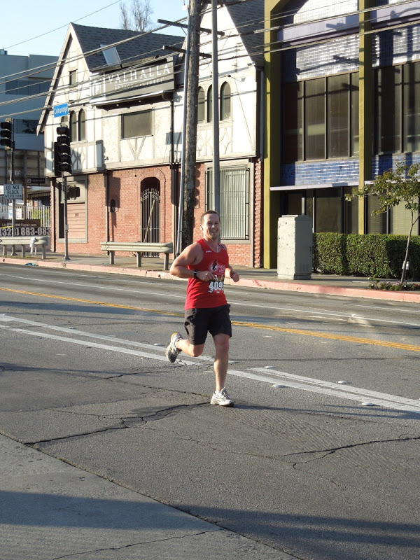Final sprint Hollywood Half Marathon