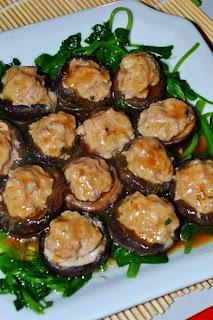 Nấm hương nhồi thịt hấp