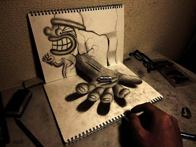 لوحات ثلاثية الأبعاد 3D+Pencil+Drawings+09