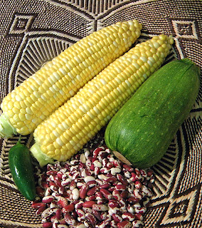 Corn, Anasazi Beans, Zucchini Squash and Jalapeno