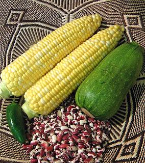 Corn, Anasazi Beans, Zucchini Squash and Jalapeno