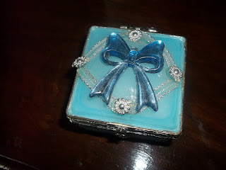 blue Crystal jewellery box on dressing table beautiful interior show peace home decor India