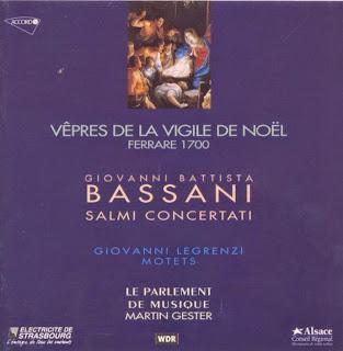 Bassani, G B: Vepres de la Vigile de Noel