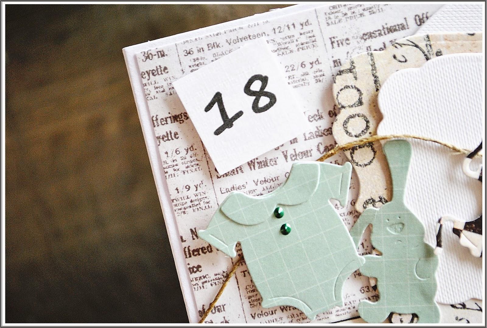 kartka na osiemnaste urodziny scrapbooking