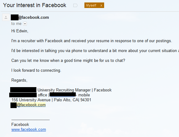 got a reply and an invitation for an interview Images - Frompo