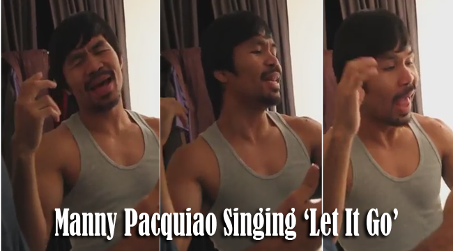 Manny Pacquiao Singing 'Let It Go' as Response to Drake's Parody [Video]