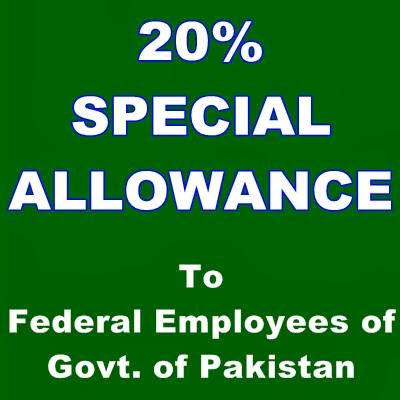 20 percent special allowance