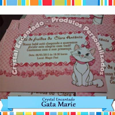 Convite Gata Marie