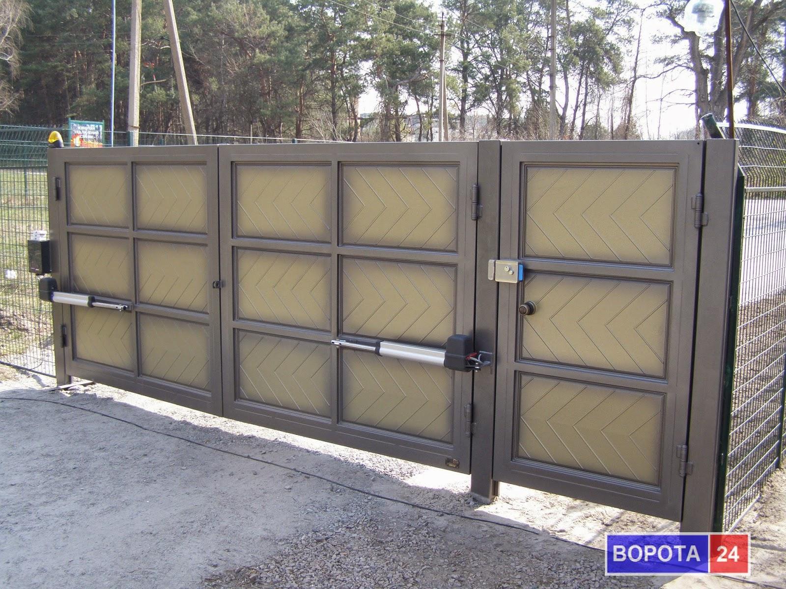 Въездные ворота для дачи своими руками 67