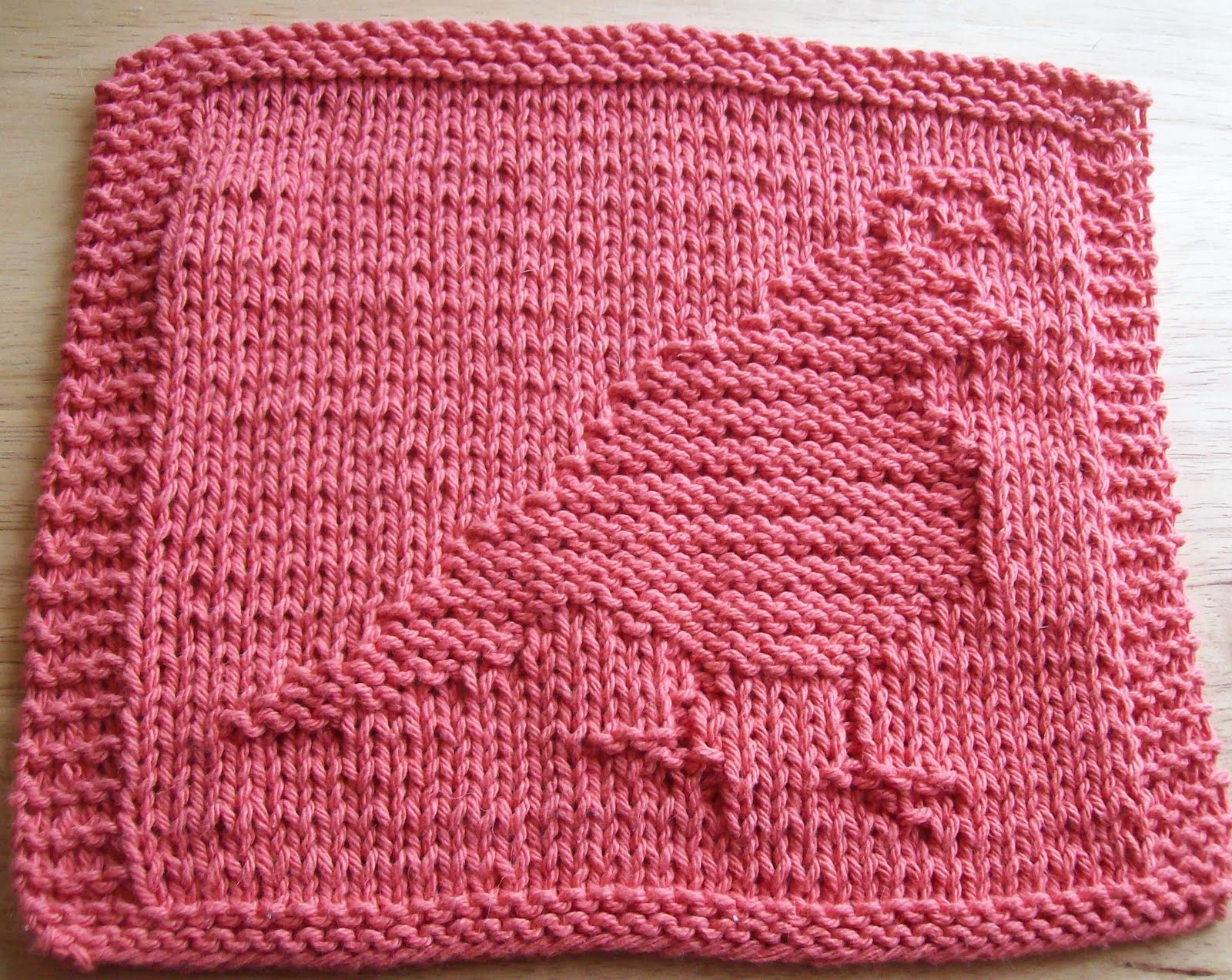 Dishcloth Knitting Pattern : DigKnitty Designs: Partridge Knit Dishcloth Pattern