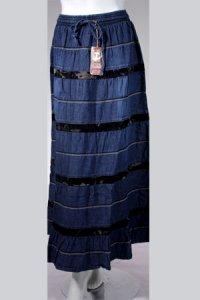 Rok Jeans Trendy 466 - Biru Dongker (Toko Jilbab dan Busana Muslimah Terbaru)