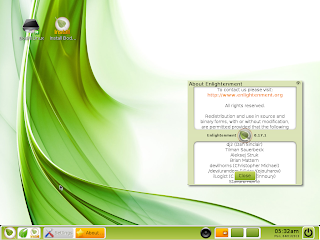 Bodhi Linux e17 desktop screenshot