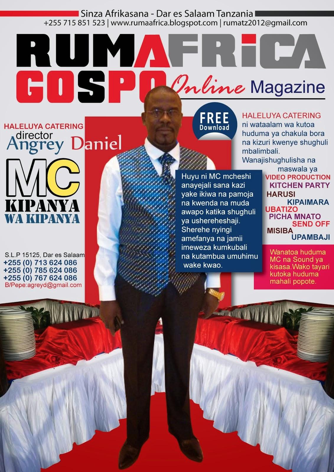 MC KIPANYA WA KIPANYA NDANI YA RUMAFRICA Online MAGAZINE
