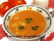 Rajčinová polievka so zemiakmi - recept
