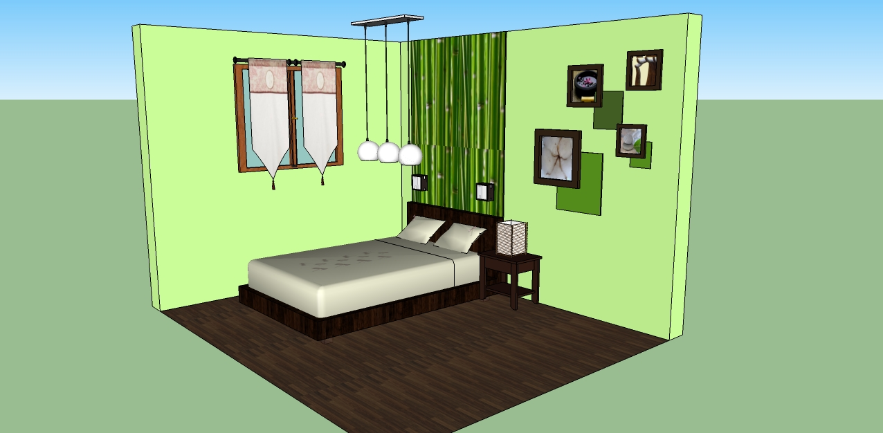 Per 39 in d co avant apr s chambre adulte n 2 for Chambre a coucher marron et vert