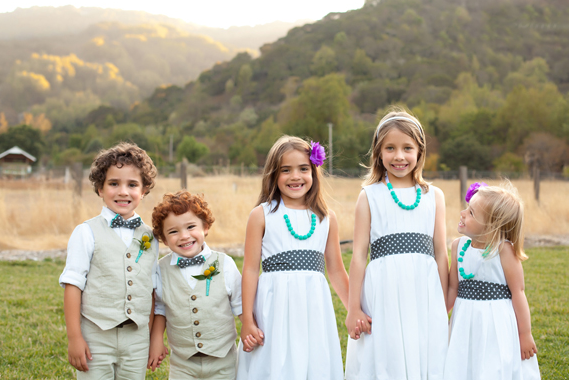 white cute junior bridesmaid dresses