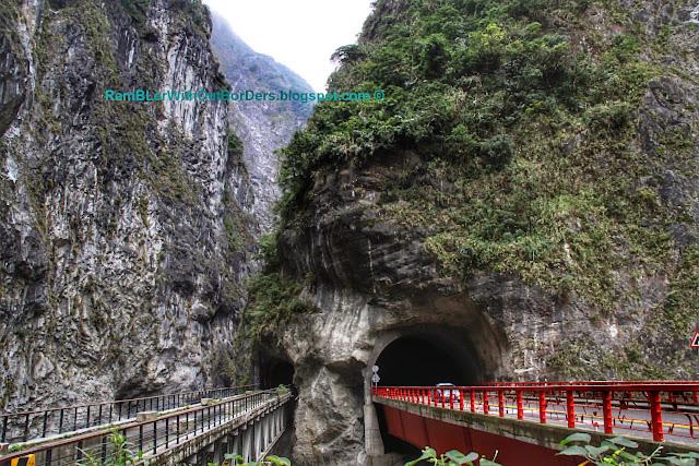 Tunnel for railway and car, Taroko National Park, Taiwan