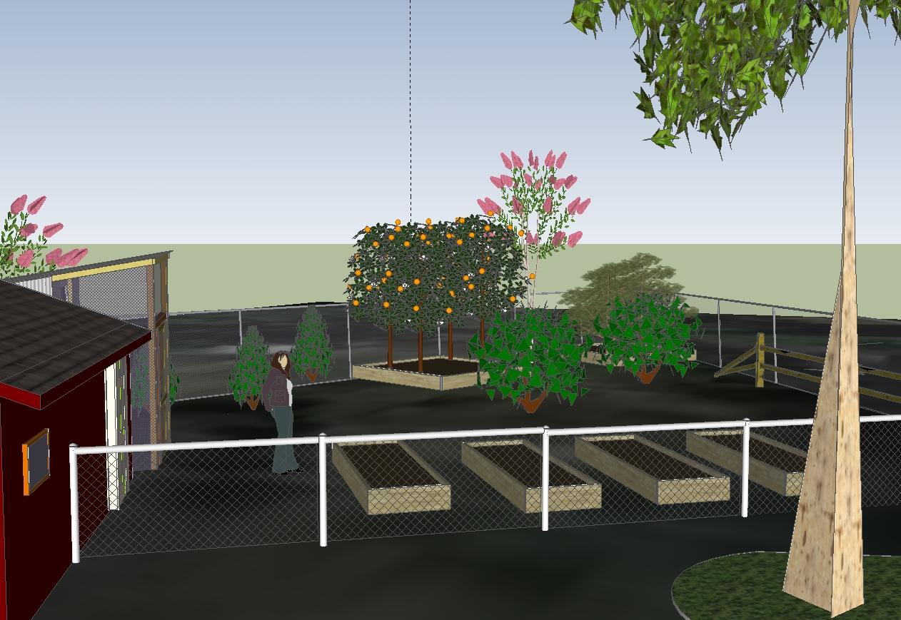 Stately warren manor edible garden space becoming a for Garden design sketchup 8
