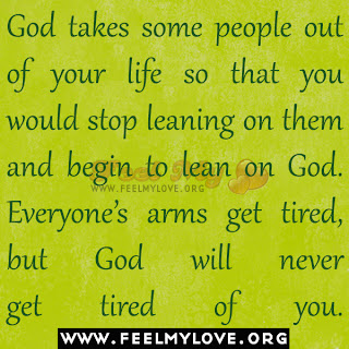God takes some people out of your life