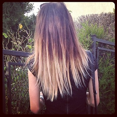 Mon Ombré Hair commence à ressembler à quelque chose! Home made.