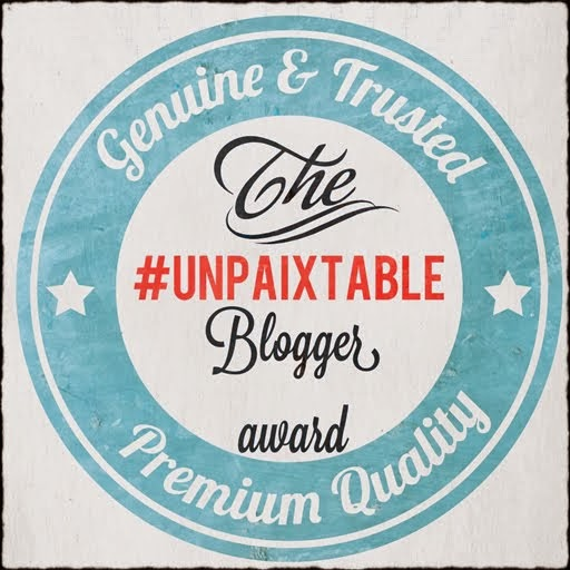 ~The #unpaixtable Blogger Award~