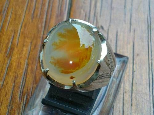 Cincin Amber Ikat Titanium