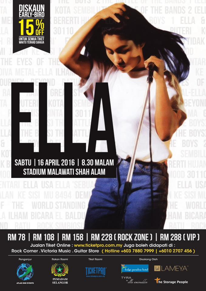 Event Ella Konsert Ella 2016 | 16 April 2016