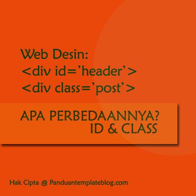 Perbedaan id Dan class Kode Template Blog