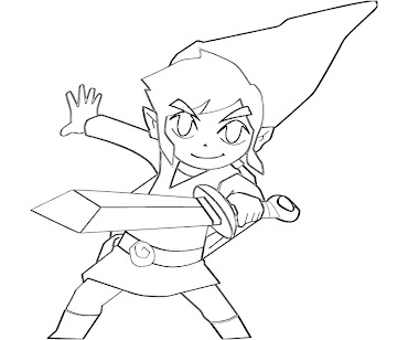 4 link coloring page