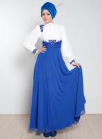 Güpür Detaylı Taş İşlemeli MilenyTesettür Elbise
