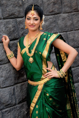 Haripriya in green saree at movie launch