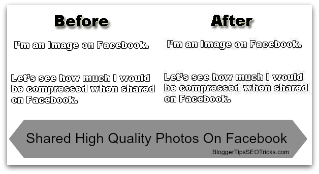 share high quality images without compress on facebook