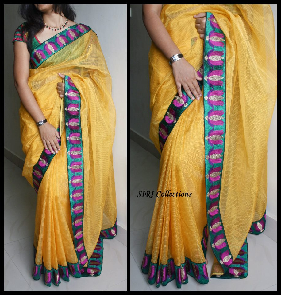 LOTUS DESIGNS EMBROIDERY BORDER SAREE