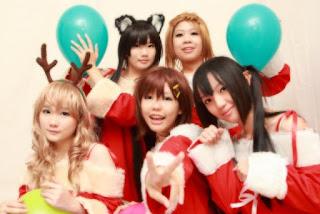 K-On! Christmas Cosplay 1