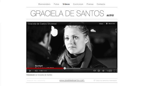 página web oficial de la actriz Graciela de Santos, diseñada por pepeworks
