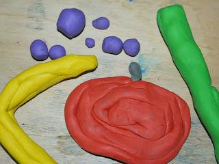 plasticine. making models, food
