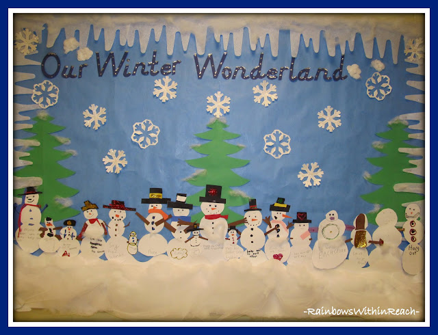 "photo of: ""Our Winter Wonderland"" Bulletin Board via Winter RoundUP at RainbowsWithinReach"