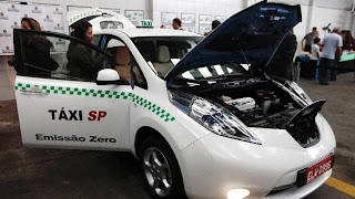 Testes com táxis elétricos em São Paulo