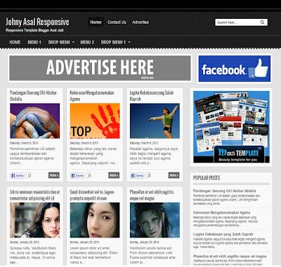 Blogger Template Johny Asal Responsive