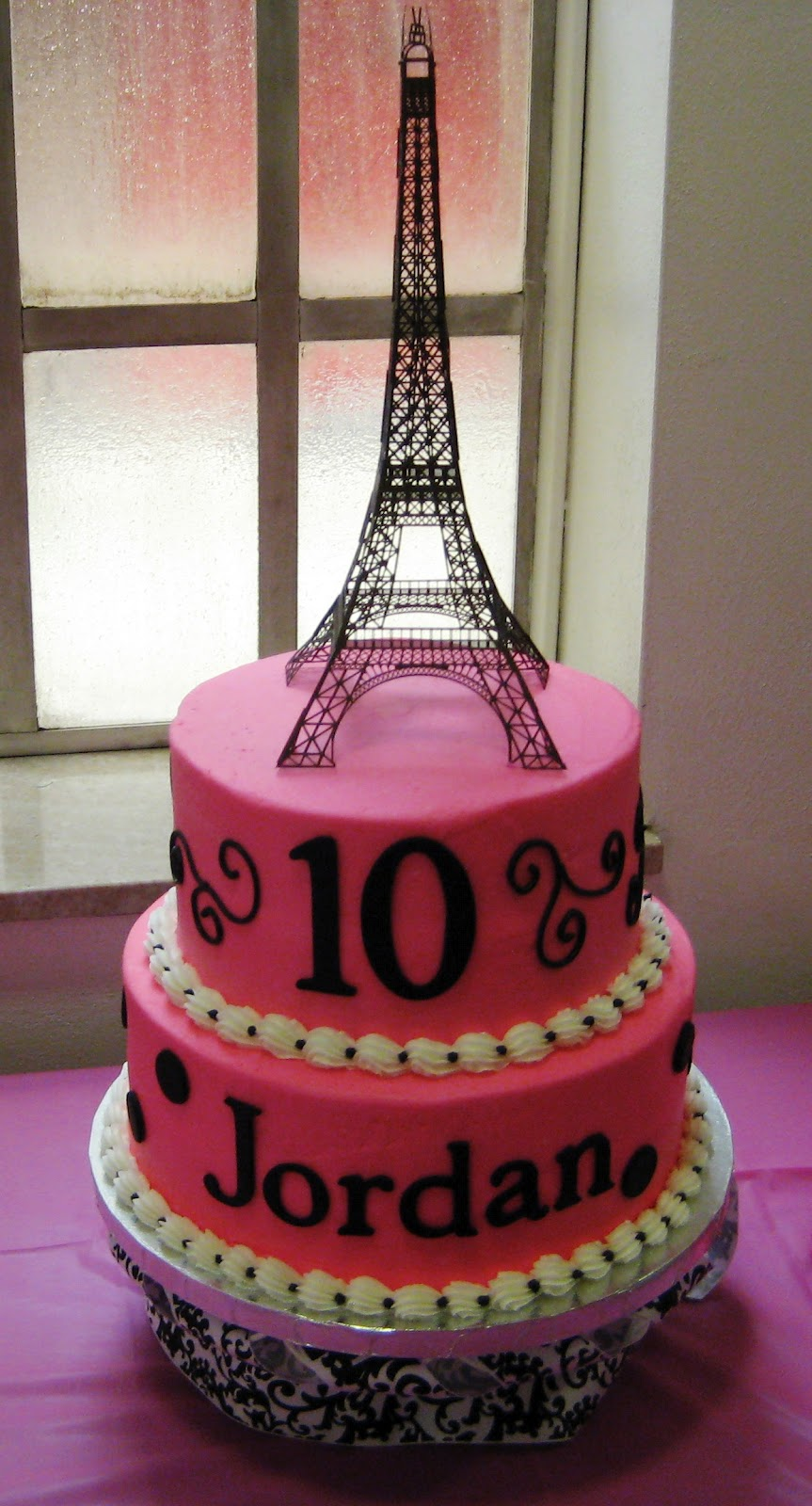 Simply Sweet Parisian Birthday Cake