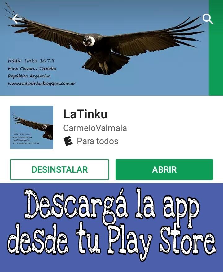 Descargá la app de la Tinku!!