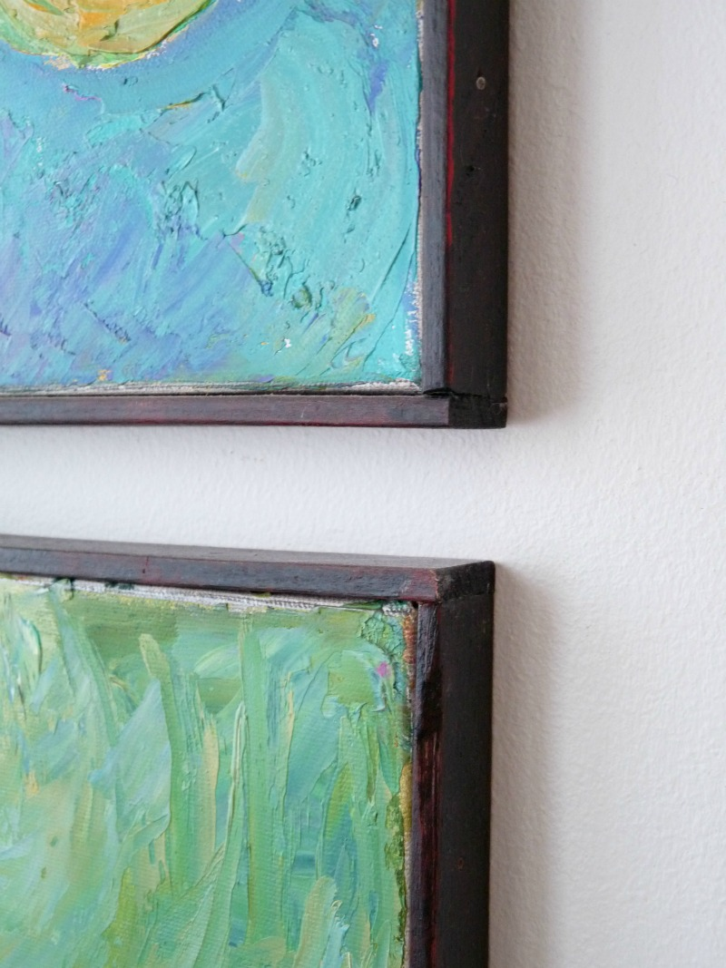diy picture frame how to fix a warped canvas dans le lakehouse. Black Bedroom Furniture Sets. Home Design Ideas