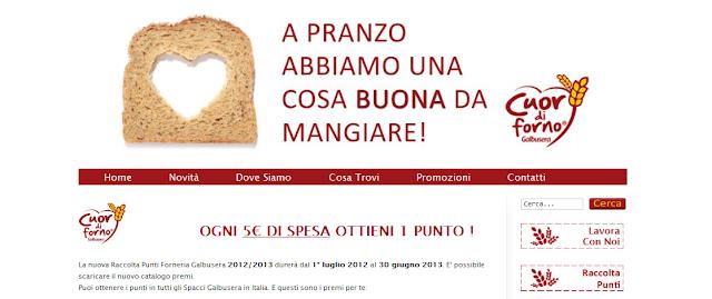 Raccolta Punti Forneria Galbusera Cuor di Forno 2012 2013