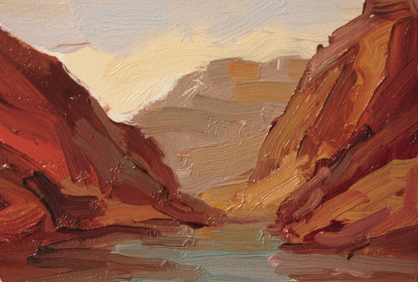 Kathryn Townsend Painting Studio: Grand Canyon Sketch 2 - NFS