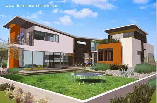 Renderizado del proyecto Casa Familia fondos de la propiedad